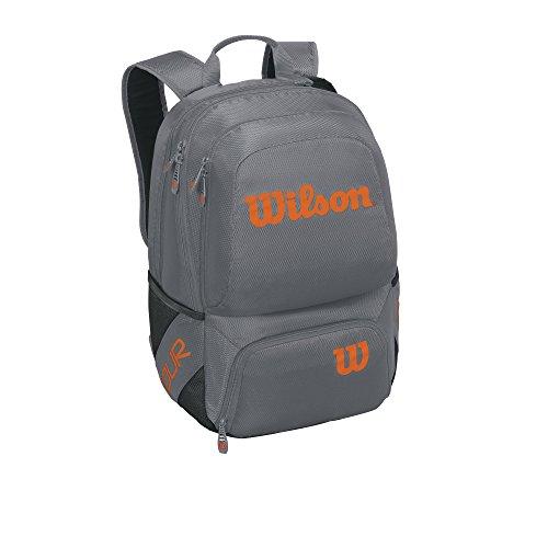 - Wilson Tour V Backpack Tennis Bag, Grey/Orange