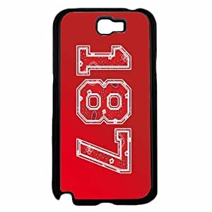 187 Red Paisley Background- Plastic Phone Case Back Cover Samsung Galaxy Note II 2 N7100