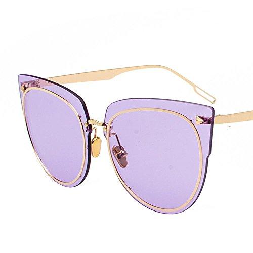 Aoligei Lunettes de soleil lunettes de soleil FASHION lunettes de soleil océan personnalité féminines marée sans verres transparents de trame A