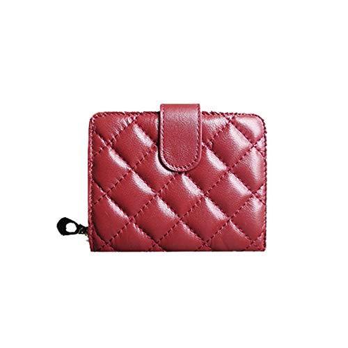Red 11.5x3x9.5CM Women's Wallet, Multifunction Waterproof Leather Multi-Card Position Wallet, Slim Wallet,blueee,11.5x3x9.5CM