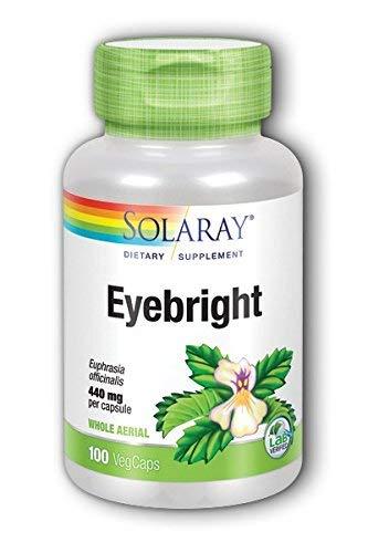 Solaray Eyebright 440mg Solaray 100 VCaps (2 Pack)