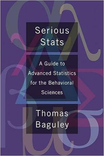 Gratis digitale lærebøker nedlastingSerious Stats: A guide to advanced statistics for the behavioral sciences by Thomas Baguley (Norwegian Edition) CHM