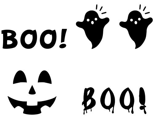 MozamyCreative Halloween Boo Decals Halloween Front Door Decal Halloween Porch Décor Halloween Door Stickers Jack-o-Lantern Door Decal Halloween Decorations