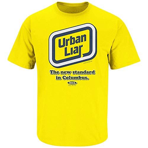 e45ff6f11c3 Smack Apparel Michigan Football Fans. Urban Liar Maize T-Shirt (Sm-5X