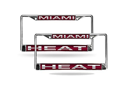 - Rico Miami Heat NBA Chrome Metal (2) Laser Cut License Plate Frame Set