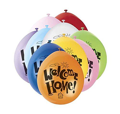 MA ONLINE Unisex Pack Of 10 Fancy Welcome Home Assorted 9 Inch Balloons Adults Party Supplies Accessory]()