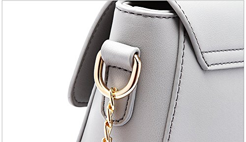 Shoulder of Mini Chain Oblique Simple Color Handbags Package Backpack Korean Gray The Version Package Wild Black Summer q1XFR
