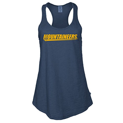 Official NCAA West Virginia University Mountaineers Hail WVU Women's Athlesiure Tank Top, Navy-09wvu-1, Medium