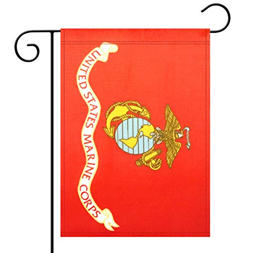 Garden Flag US Marine Corps Flag Garden Flag,Garden Decoration Flag,Indoor and Outdoor Flags,Celebration Parade Flags,Army Party Events Celebration,Double-Sided.
