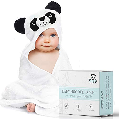 - Premium Organic Bamboo Hooded Baby Towel - Large, Soft Panda Bath Robe for Boy or Girl - Perfect Shower Gift - Sized for Babies, Newborns, Infants, Toddlers & Kids - Super Absorbent and Hypoallergenic