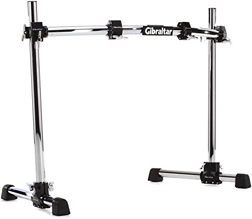 Gibraltar Series Road - Gibraltar GRS300C Road Series 40C Curved Front Rack with Fix T Legs, RS Black Clamps