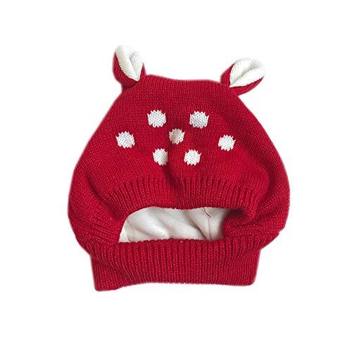 MMJ Sombrero de bebé con Orejas de Dibujos Animados Invierno bebé Gorro de  Punto elástico niños 18ed9ff3137