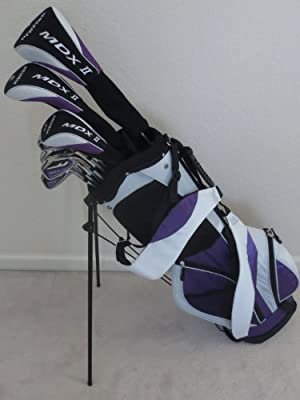 Ladies Complete Professional Golf Set Womens Right Handed Clubs Driver, Fairway Wood, Hybrid, Irons Putter & Bag