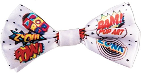 Forum Novelties Unisex-Adults Pop Art-Bow Tie, Multi, (Pop Art Comic Man Costume)