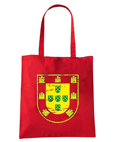 WC0533 Rossa VINTAGE PORTUGAL PORTUGAL Speed Shopper Shirt Borsa wvxHtfqFI