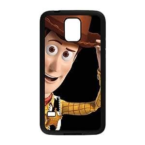 Caso Toy Story 007 Samsung Galaxy S5 caso de la cubierta del teléfono celular Negro Cubierta EVAXLKNBC08752