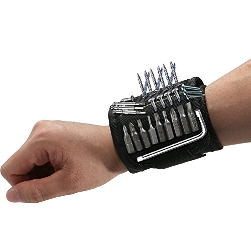 EXTSUD Magnetic Wristband Black with Strong Magnets for Holding Screws...