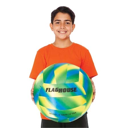 (FLAGHOUSE - Jumbo Volleyball - Water-Resistant - Soft - Sports Training - 16-Inch)