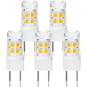 LED G8 Light Bulb, G8 GY8.6 Bi-pin Base LED, Not Dimmable T4 G8 Base Bi-pin Xenon JCD Type LED 120V 50W Halogen Replacement Bulb for Under Counter Kitchen ...