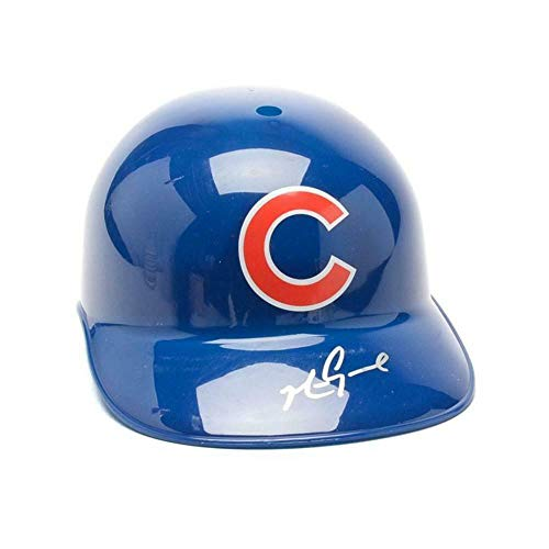 Chicago Cubs Autographed Helmets - Mark Grace Chicago Cubs Autographed Full Size Replica Baseball Batting Helmet (J - Autographed MLB Helmets