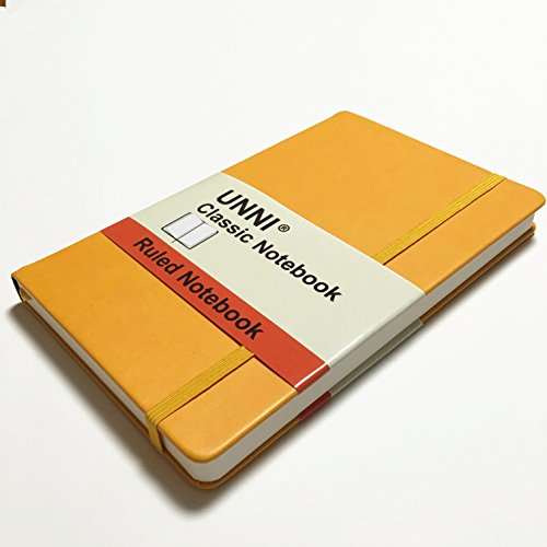 unni-classic-notebook-journal-size5-x-825-a5-yellow-color-ruled-lined-page-240-pages-hard-cover-fine