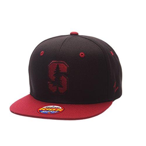 Zephyr NCAA Stanford Cardinal Children Boys Youth Z11 Phantom Snapback Hat, Adjustable Size, Black/Team Color
