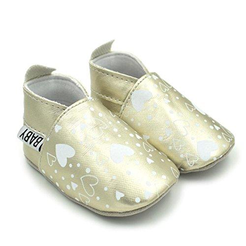 Clode® Neugeborene Kleinkind Baby Säuglings Mädchen Jungen Schuhe Nette weiche rutschfeste Schuhe Silber