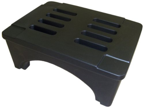 "B00962TWS4 Forte Products 8002031 SureStack Plastic Dunnage and Storage Rack, 1500 Lb. Load Capacity, 30"" L x 22"" W x 12"" H, Black 41VRSnkXJbL"