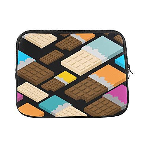 Design Custom Hazelnut Dried Fruit Snack Black Sleeve Soft Laptop Case Bag Pouch Skin for Air 11