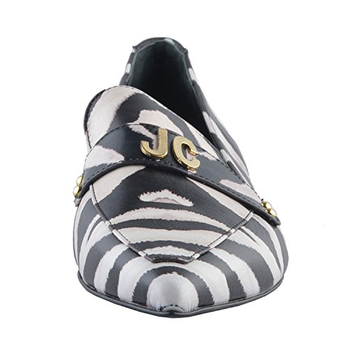 Just Cavalli Kvinnor Läder Spetsiga Tå Balett Lägenheter Loafers Skor Oss 9 Den 39