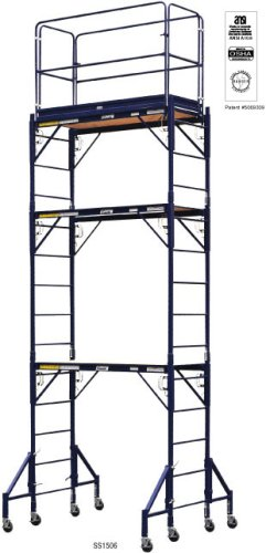 Louisville Ladder Ss1508 15'x8' Fortruss Steel Rolling Tower (Louisville Rolling Ladders)