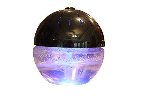 - EcoGecko Earth Globe- Glowing Water Air Washer and Revitalizer with Lavender Oil, Black