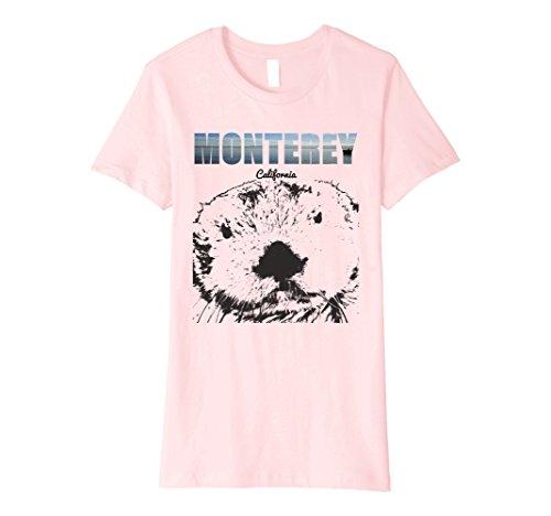 Womens My Monterey 2018 California Sea Otter Seascape T Shirt Small Pink