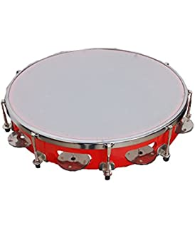 Alligator Fibre Dafli/Tambourine Random colour 10 inch Hand Percussion Musical Instrument