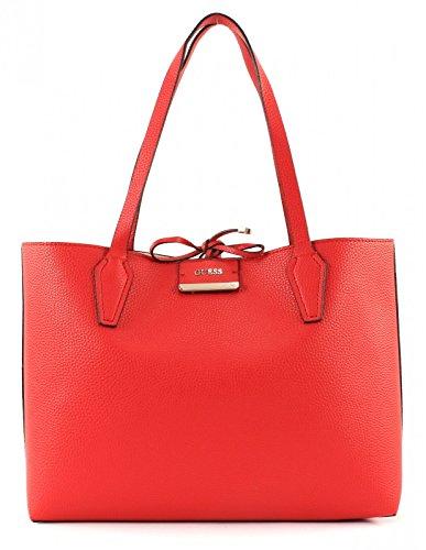 GUESS Bobbi Bobbi Tote Inside GUESS Red Inside Tan Out wqBdrawt