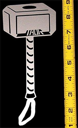 - Thor's Hammer - HQ Single Color High Gloss Silver Metallic Vinyl Decal!
