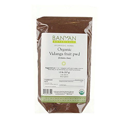 Banyan Botanicals Vidanga Powder - Certified Organic, 1/2 Pound - Bolsters the natural defenses of the GI Tract*