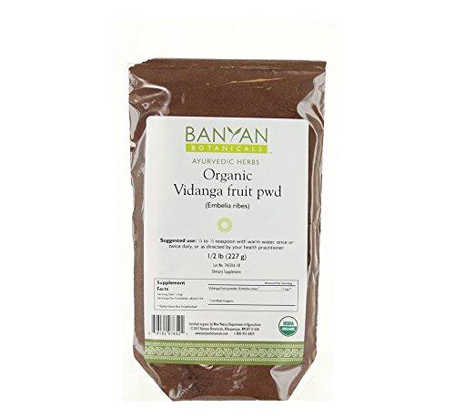 Banyan Botanicals Vidanga Powder - Certified Organic, 1/2 Pound - Bolsters the natural defenses of the GI Tract* by Banyan Botanicals