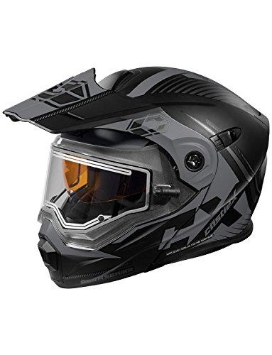 Castle X CX950 Focus Electric Modular Snowmobile Helmet (XLG, Matte Black/Gray)