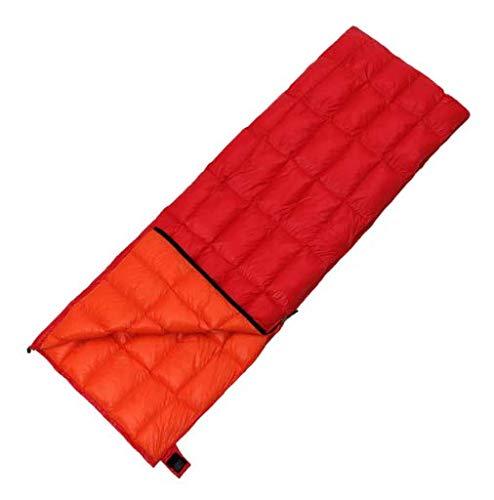 Mishuai Daunenschlafsack Erwachsenen ultraleichten Umschlag Schlafsack im Freien, der doppelte kampierende Ententasche des Innenkampierens näht