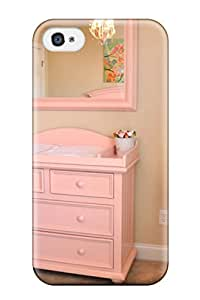 Dixie Delling Meier's Shop New Premium Flip Case Cover Girls Nursery Soft Pink Changing Table And Mirror Skin Case For Iphone 4/4s 1094302K36459878