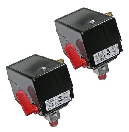 Craftsman 919176432 DeVilbiss df412 Compresor (2 unidades) Repl Interruptor de presión # 5140112 –