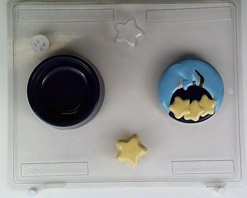 Media Luna con 2 estrellas y caja inferior AO077 todos los ocasión ...