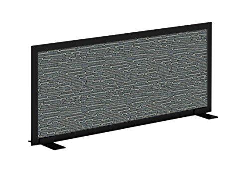 Obex 18X72A-B-WA-FS Acoustical Free Standing Privacy Screen, 18''X72'', Wave