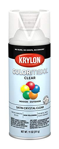 Krylon K05562007 COLORmaxx Spray Paint, Aerosol, Clear