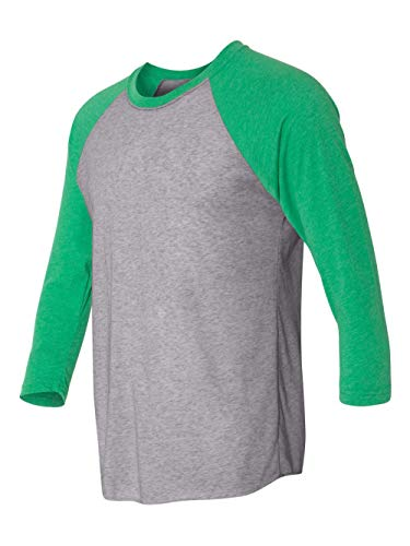 Next Level Mens Tri-Blend 3/4-Sleeve Raglan Tee (6051) -ENVY/PREM -S (Bella Baseball T-shirt)
