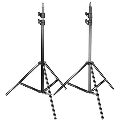 Neewer 2-pack Photography Light Stand - Metal Adjustable 36-79 inches/92-200 centimeters Heavy Duty Support Stand for Photo Studio Softbox, Umbrella, Strobe Light, Reflector and Other Equipment by Neewer