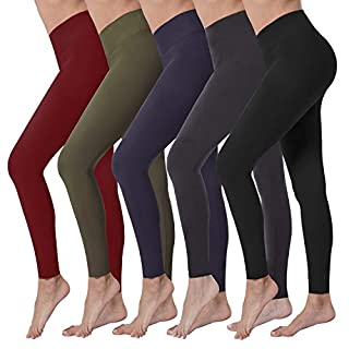 VALANDY High Waisted Yoga Pants Stretch Tummy Control Athletic Workout Running Leggings for Women Reg Size 5Pack