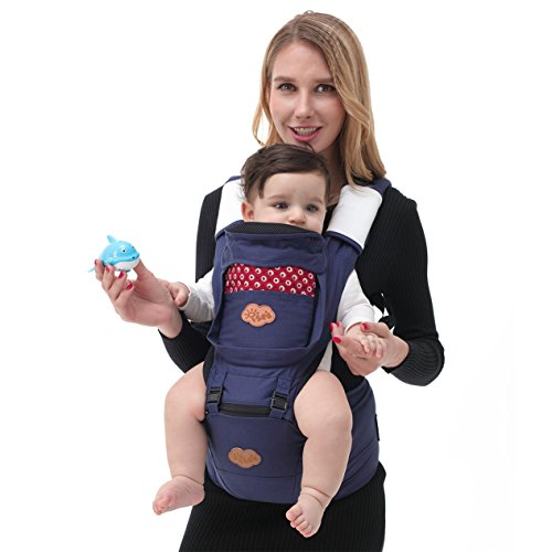Cotton Embossed Belt (ISEE Baby Carrier Ergonomic 6 in1 Positions, Designer Breathable Ergonomic Baby & Child Carrier with Hipseat Fit 4)