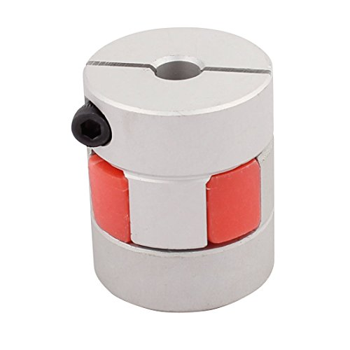 uxcell 6mm to 8mm Shaft Coupling 30mm Length 25mm Diameter Motor Coupler Aluminum Alloy Joint Connector for DIY Encoder